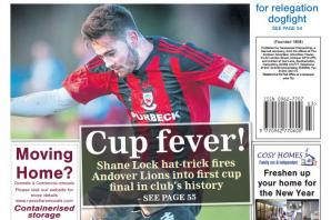 Back page preview: Cup fever!
