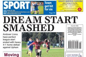 Back page preview: Dream start smashed