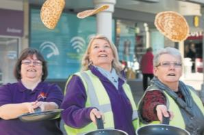 No pancake race in the High Street this year